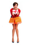 Happy shopping woman. Royalty Free Stock Image