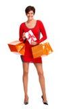Happy shopping woman. Royalty Free Stock Photos