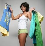 Happy shopping woman Royalty Free Stock Photos