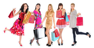 Happy shopping women Royalty Free Stock Photography