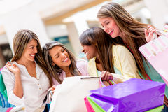 Happy shopping women Royalty Free Stock Photos