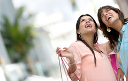 Happy shopping women Stock Image
