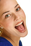 Happy and shouting stock image