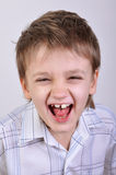 Happy shouting boy Stock Images