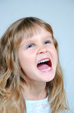 Happy shouting girl Royalty Free Stock Image