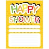 Happy shower invitational card Royalty Free Stock Photo