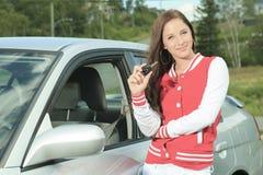 Happy showing car keys Stock Photography