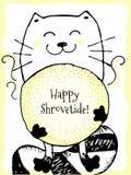 Happy Shrovetide Hand Drawn  Illustration Royalty Free Stock Photo