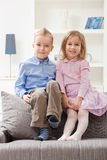Happy siblings Royalty Free Stock Photo