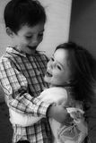 Happy siblings Royalty Free Stock Images