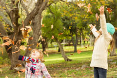 Happy siblings in the park Stock Photography