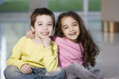 Happy siblings portrait Royalty Free Stock Photography