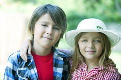 Happy siblings portrait Royalty Free Stock Images