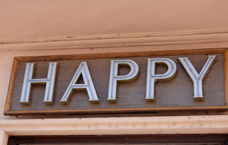 A happy sign Royalty Free Stock Photo