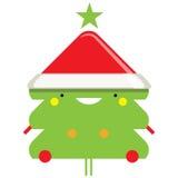 Happy simple smiling Santa Claus cartoon character vector illustration