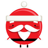 Happy simple smiling Santa Claus reindeer cartoon character Stock Photography