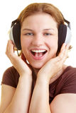 Happy singer Royalty Free Stock Photography