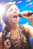 Happy singer Royalty Free Stock Image