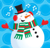 Happy Singing Snowman Royalty Free Stock Photo