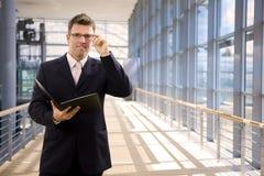 Happy single businessman Royalty Free Stock Photos