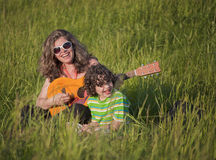 Happy Single Mom Stock Photography