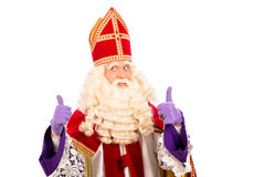 Happy Sinterklaas on white background Stock Images