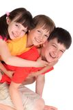 Happy sister and brothers Royalty Free Stock Images