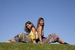 Happy sisters Stock Photos