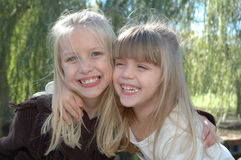 Happy Sisters Royalty Free Stock Photos