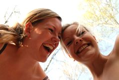 Happy Sisters. Two loving sisters in a joyful mood Stock Photography