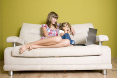 Happy sisters Stock Photography