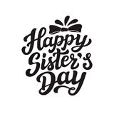 Happy sisters day lettering poster Royalty Free Stock Images