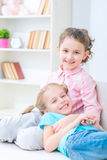 Happy sisters having fun together Royalty Free Stock Photography