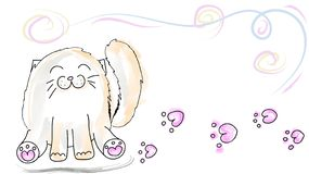 Happy sitting cat stock illustration