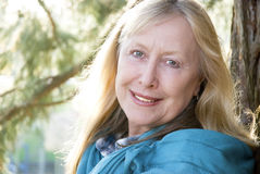happy sixties smiling woman Στοκ Φωτογραφία