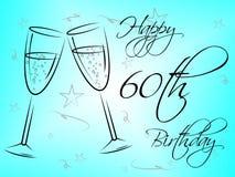 Happy Sixtieth Birthday Shows Congratulation Fun And Greetings Royalty Free Stock Photo