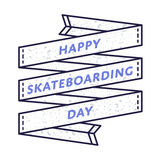 Happy Skateboarding Day greeting emblem Royalty Free Stock Photo