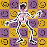 The happy skeleton stock illustration