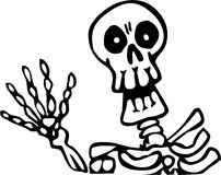 Happy Skeleton Royalty Free Stock Photo