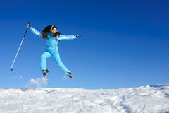 Happy skier Stock Photography