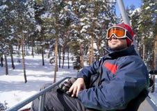 Happy skier Royalty Free Stock Image