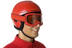 Happy skier royalty free stock photography