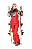 Happy skier Royalty Free Stock Photos