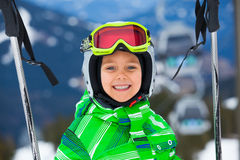 Happy skier boy Stock Image