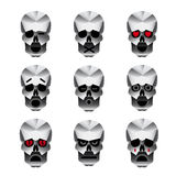 Happy skull emotion icons set Royalty Free Stock Photo