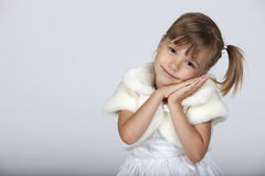 Happy sleepy little girl Royalty Free Stock Photos