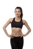 Happy slim fitness model Stock Photo