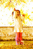 Happy small girl Stock Images