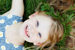 A happy small girl royalty free stock images