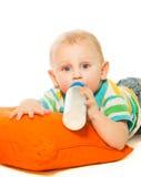 Toddler drinking formula Stock Images